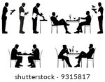 silhouette of couples and a... | Shutterstock . vector #9315817