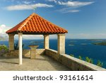 Red Roof Over Korcula Channel
