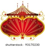 magic red circus frame. a... | Shutterstock .eps vector #93170230