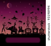 colorful circus caravan by... | Shutterstock .eps vector #93198994