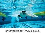 swimmer under water in pool | Shutterstock . vector #93215116