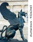 Statue Of A Griffin In Front O...