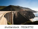 bixby creek bridge in the big...