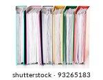 office folders isolated on white | Shutterstock . vector #93265183