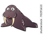 Funny Cartoon Walrus