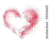 vector heart made of  spray | Shutterstock .eps vector #93316465