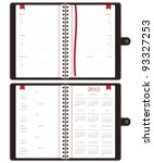 notebooks with days of the week ... | Shutterstock .eps vector #93327253