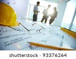 image of engineering objects on ... | Shutterstock . vector #93376264