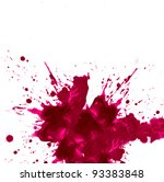 watercolor paint splash | Shutterstock . vector #93383848