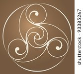 celtic disk ornament  ... | Shutterstock .eps vector #93385267