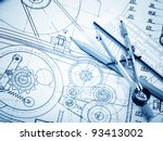 industrial drawing detail and... | Shutterstock . vector #93413002