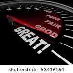 a speedometer with red needle... | Shutterstock . vector #93416164