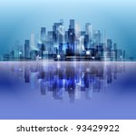 city landscape. raster version. | Shutterstock . vector #93429922