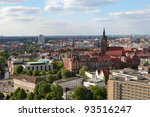 Stock photo view on the center of hannover from the new town hall neues rathaus 93516247