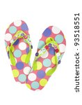 pair of spotted flip flops on... | Shutterstock . vector #93518551