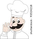 winking cook giving the okay... | Shutterstock .eps vector #93524218
