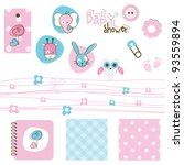 baby shower elements | Shutterstock .eps vector #93559894