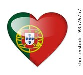 portugal flag in heart shape...