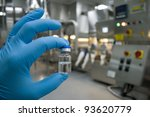 hand in rubber glove holding a... | Shutterstock . vector #93620779