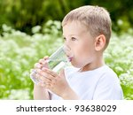 child drinking pure water in... | Shutterstock . vector #93638029