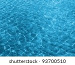water texture with solar patches of light - stock photo