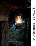 Lantern Hang In Front Of Woode...