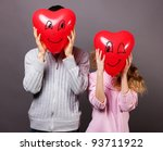 Young romantic valentine's couple - stock photo