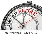 time to retire concept clock... | Shutterstock . vector #93717226