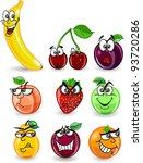 cartoon orange  banana  apples  ... | Shutterstock .eps vector #93720286