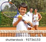 young male tennis player at a... | Shutterstock . vector #93736153