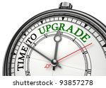 time to upgrade concept clock...   Shutterstock . vector #93857278