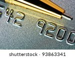 Close-up picture of a credit card as a background. - stock photo