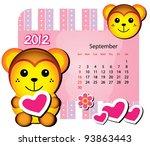 animal calendar series ...   Shutterstock .eps vector #93863443