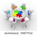 3d people   human character  ... | Shutterstock . vector #93877516