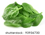 fresh spinach salad | Shutterstock . vector #93936730