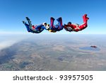 skydiving photo | Shutterstock . vector #93957505