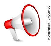 illustration of megaphone on... | Shutterstock .eps vector #94008400