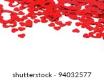 hearts isolated on white | Shutterstock . vector #94032577