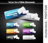 vector web subscribe button for ... | Shutterstock .eps vector #94047268