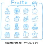 pure series   hand drawn fruit... | Shutterstock .eps vector #94057114