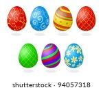 vector illustration of easter... | Shutterstock .eps vector #94057318