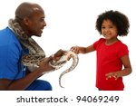 Vet And Preschool Child Snake...