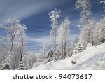 winter mountain with snow | Shutterstock . vector #94073617