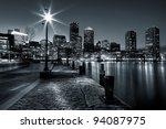 black and white shot of boston... | Shutterstock . vector #94087975