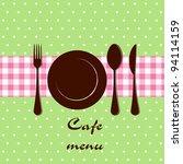 template of a cafe menu | Shutterstock .eps vector #94114159