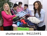 young and diverse volunteer... | Shutterstock . vector #94115491