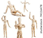 Wooden Figure Isolated On Whit...