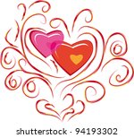 abstract isolated love branch.... | Shutterstock .eps vector #94193302