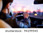 driving a car at night   Shutterstock . vector #94199545