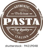 Authentic Vintage Style  Pasta Stamp - stock vector